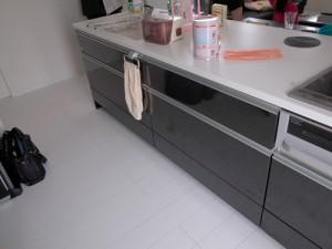 施工前のシステムキッチン