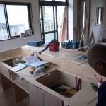 システムキッチン天板造作