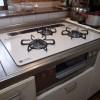 システムキッチンのガス器具取替工事