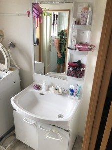 洗面化粧台施工後1